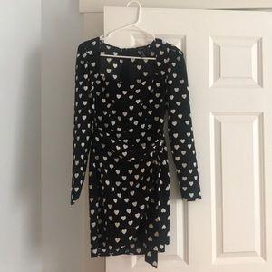 Forever21 Heart Print Dress